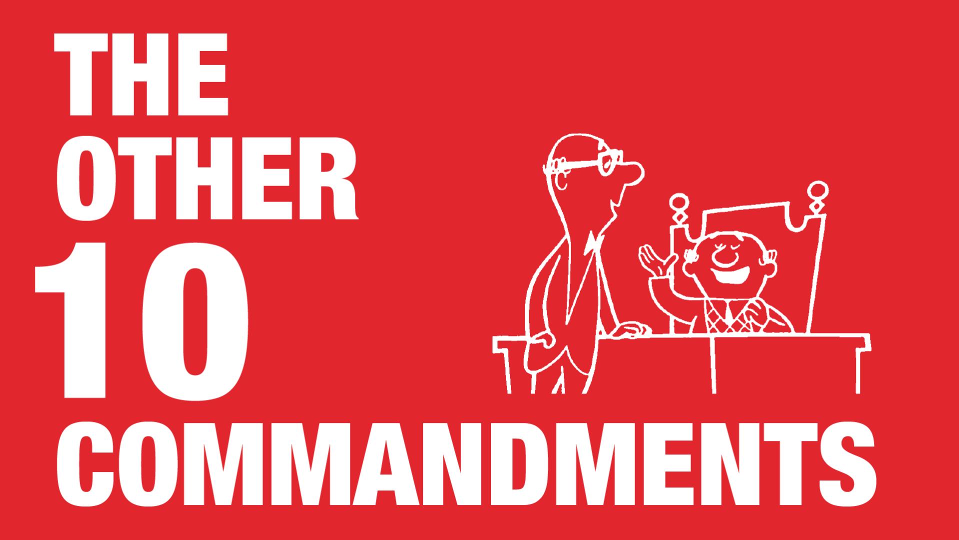 Manraj Ubhi - The other 10 commandments