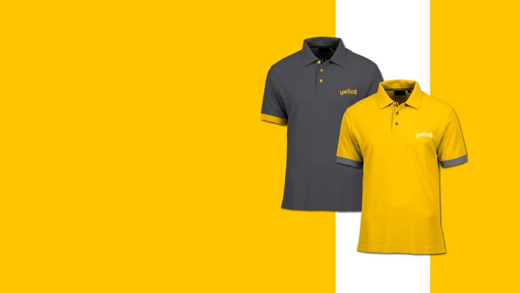 yello telecommunications - clothing - polo shirts - Manraj Ubhi