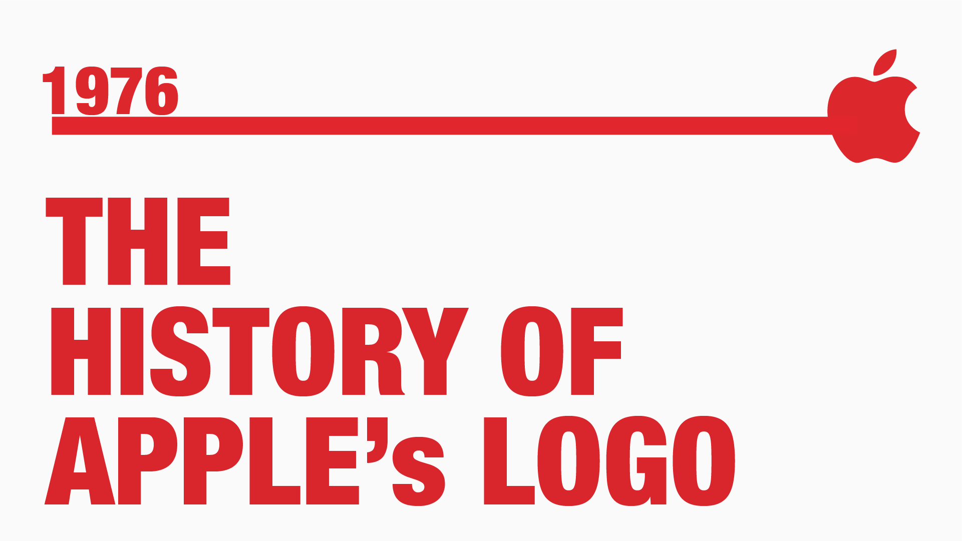 The History of Apples Logo - Manraj Ubhi